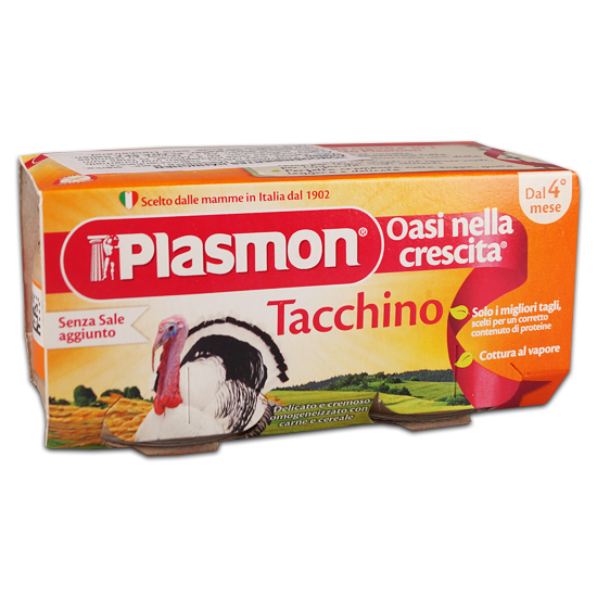 Plasmon Omo Tacchino 2x80 g