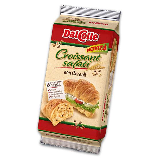 Croissant Salati con Cereali / Salzige Croissants mit Zerealien 240 g DAL COLLE